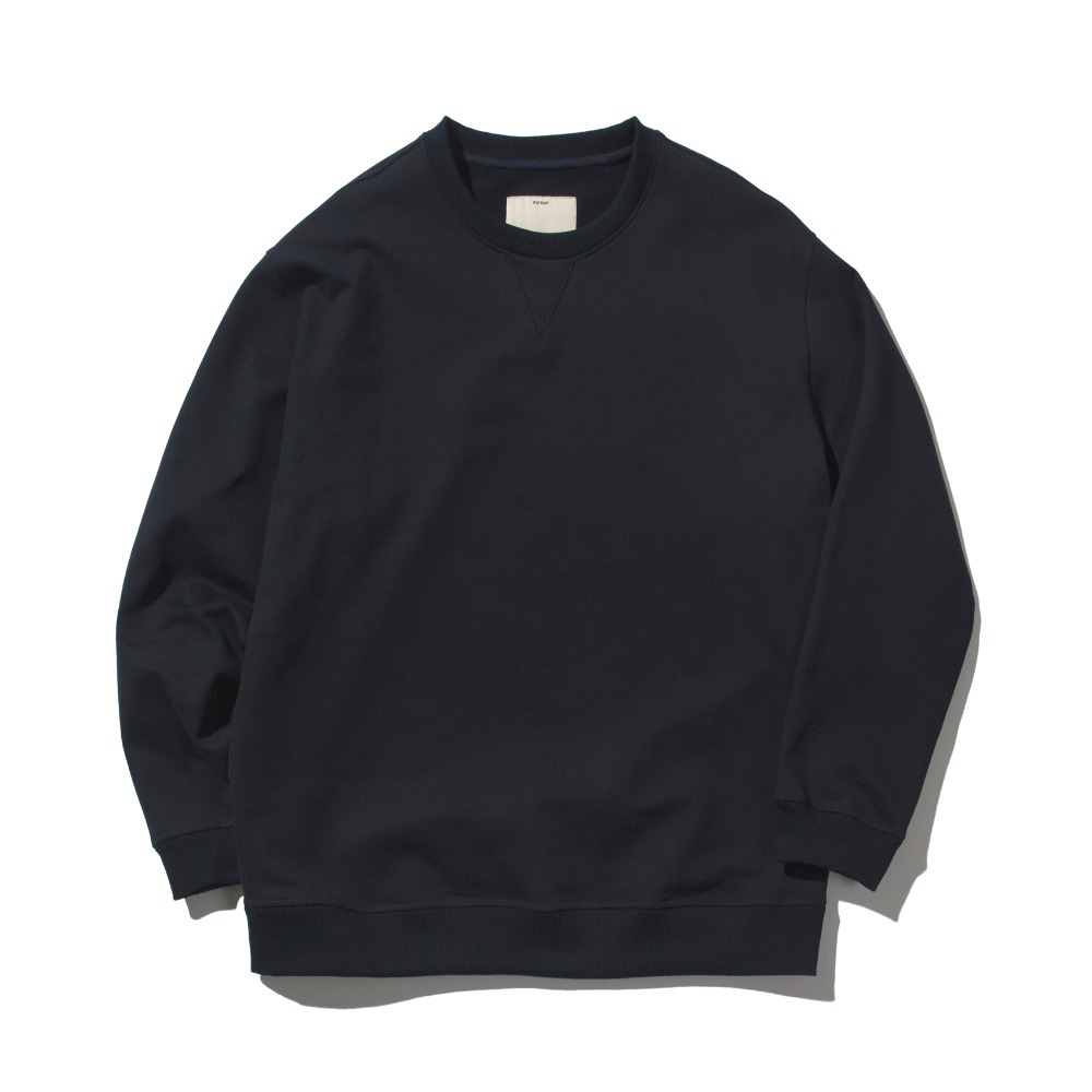 [Pottery]  Heavy Sweat Shirt Navy