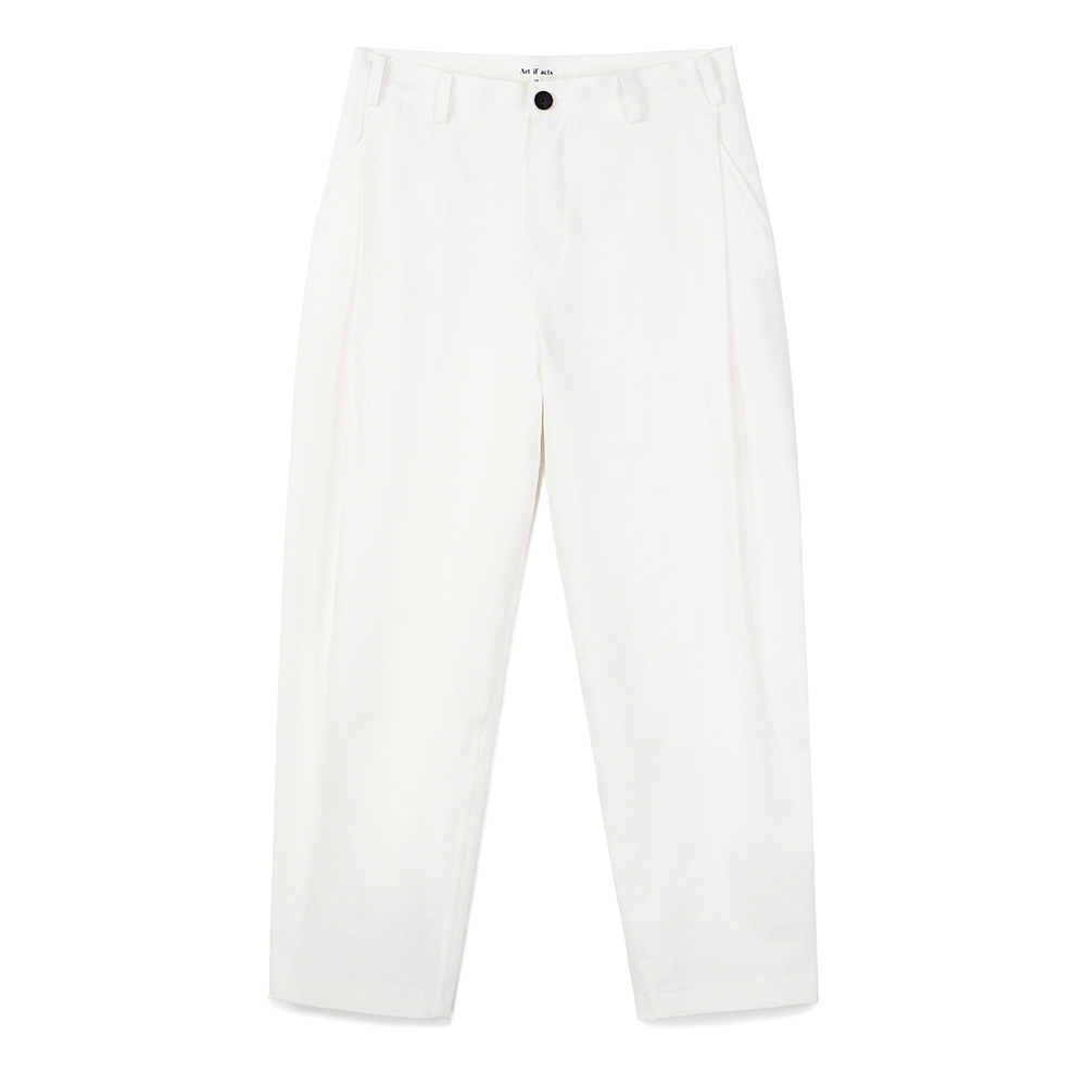 [Art If Acts]  Side Tucked Pants Cream   30% Season Off
