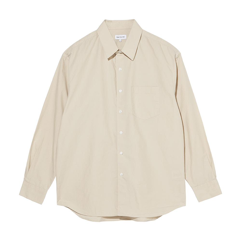[Steady Every Wear]  Relaxed Daily Shirts Light Beige
