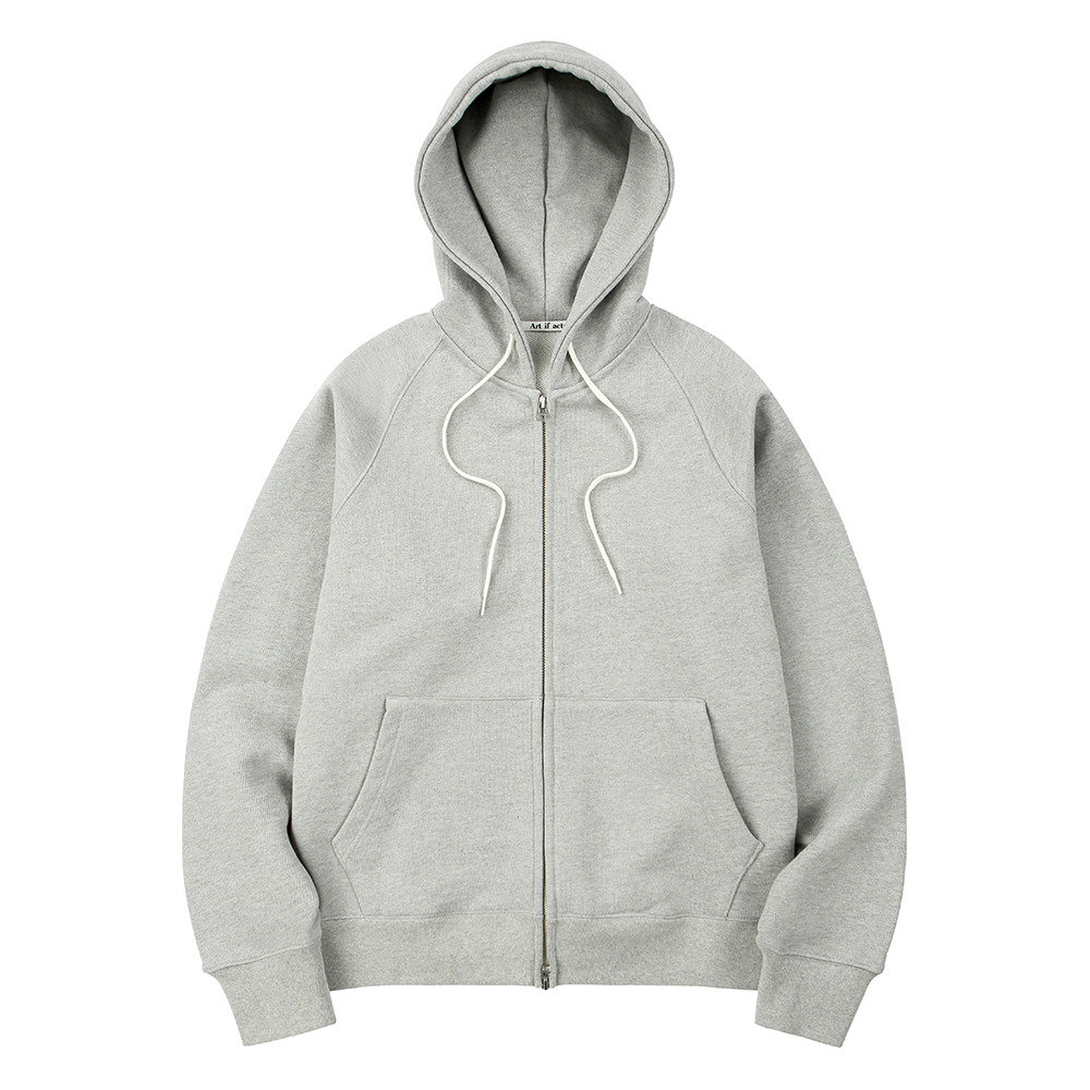 [Art if acts]  Heavy Hooded Sweat Shirt Melange Grey