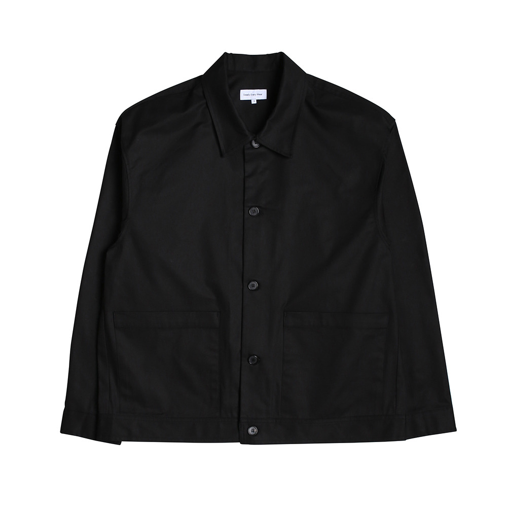 [Steady Every Wear]  Relaxed Cotton Jacket Black   20% Season Off