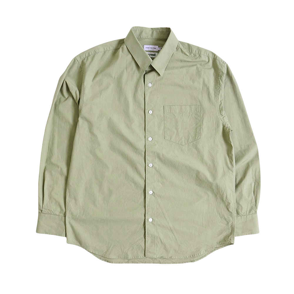 [Steady Every Wear]  Relaxed Daily Shirts Light Green   [Exclusive Color]