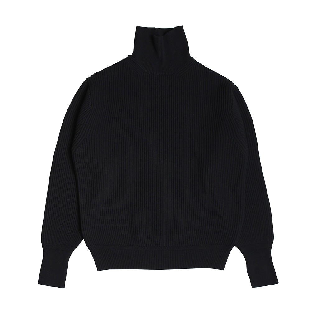 [Steady Every Wear]  Heavy Wool Turtle Neck Knit Black