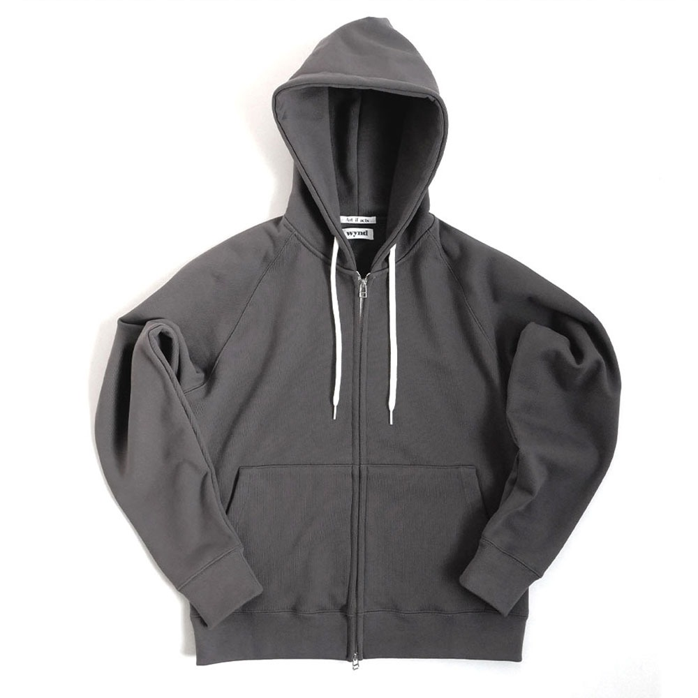 [Art if acts]  Heavy Hooded Sweat Shirt Charcoal Grey   [Exclusive Color]