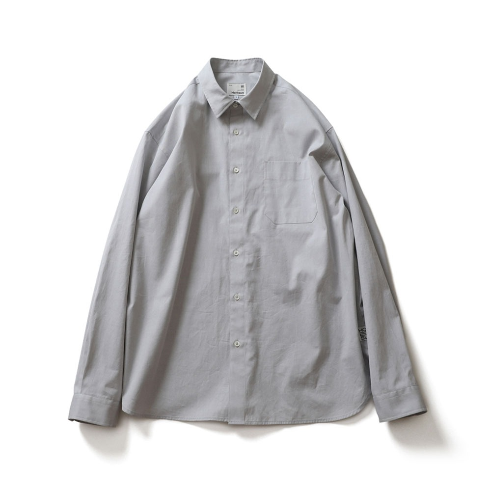 [Horlisun]  21SS Jane Silky Oxford Shirts Light Grey