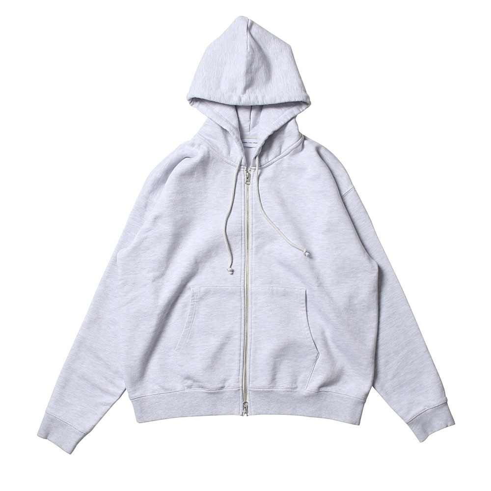 [Steady Every Wear]  Daily Hood Zip Up White Melange