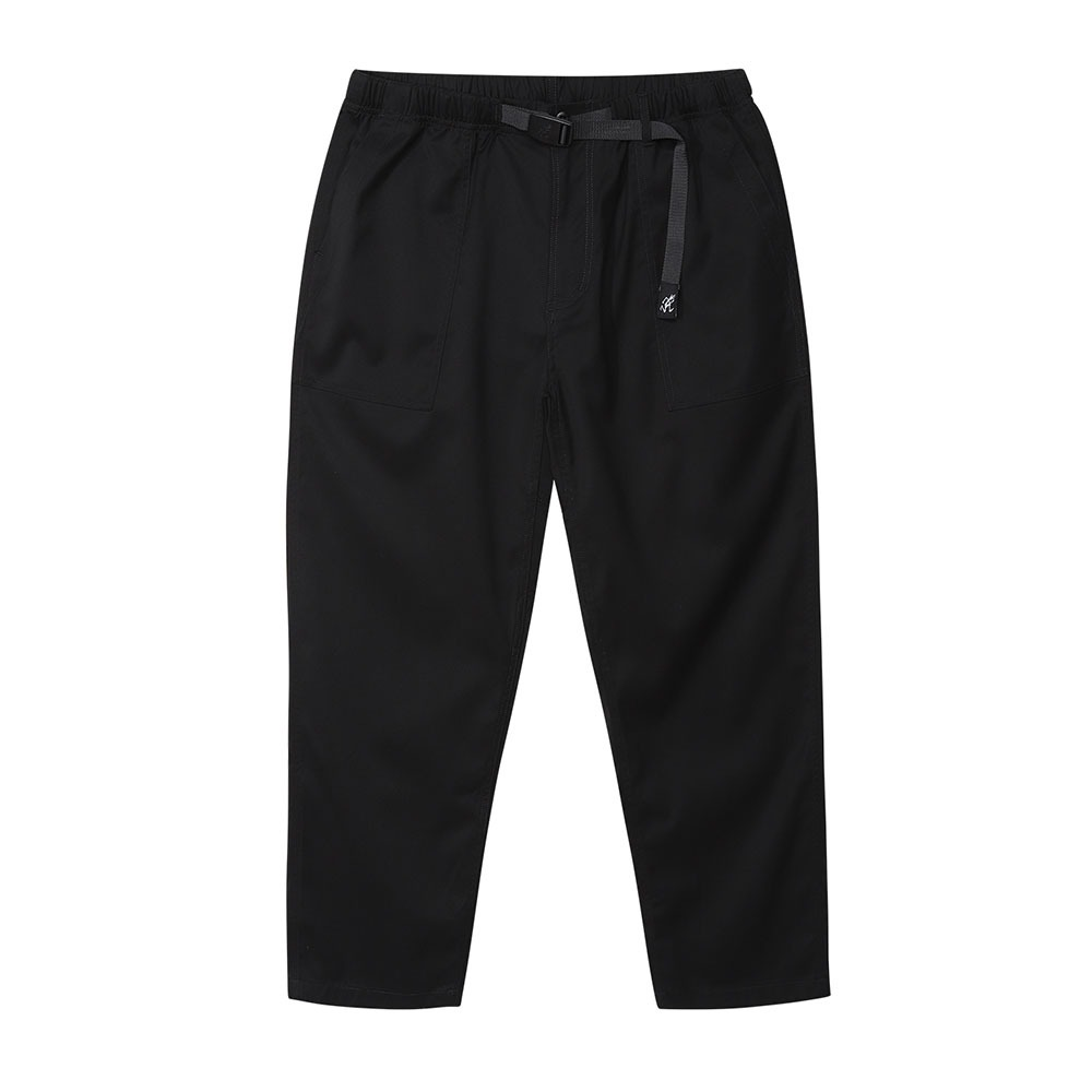 [Gramicci]  Gabardine Loose Tapered Pants Black