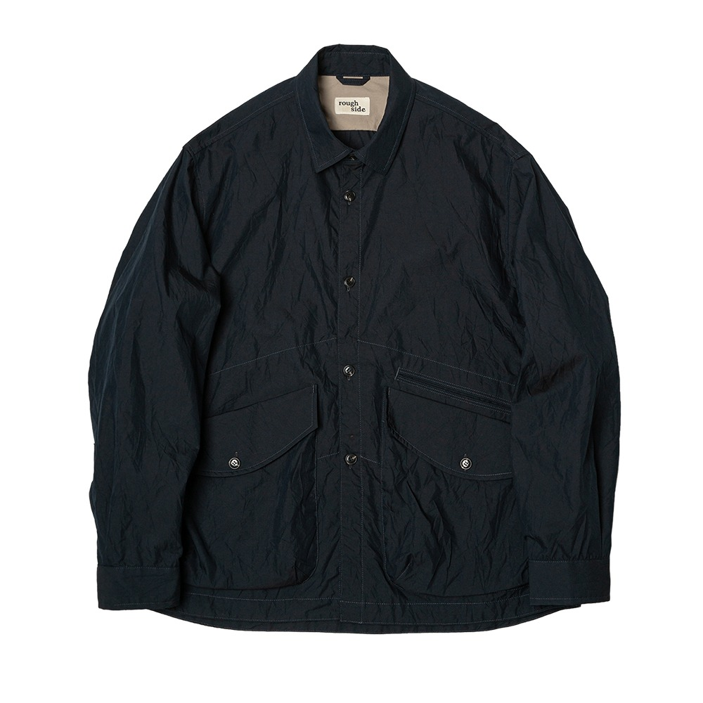 [Rough Side]  Crease Jacket Navy