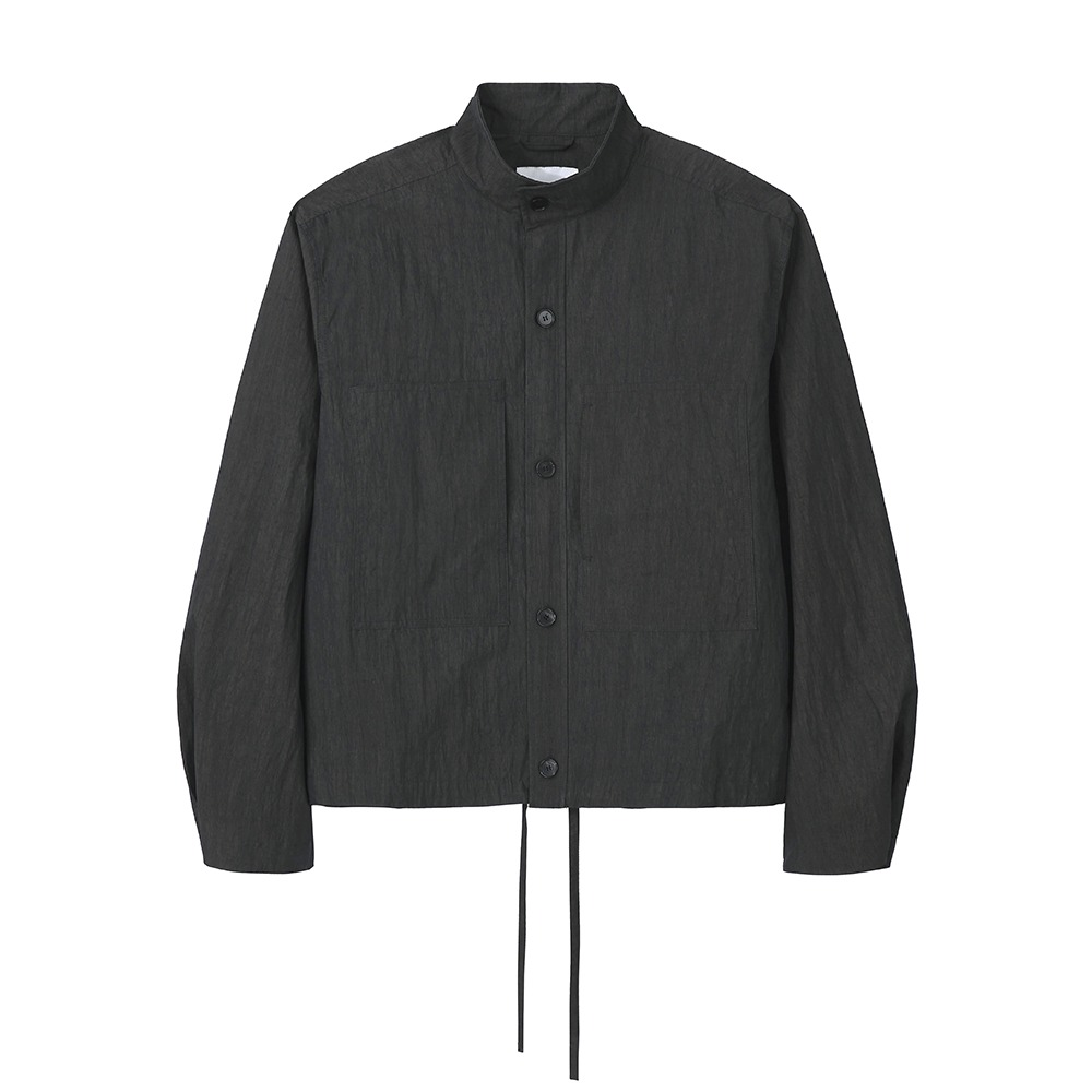 [Art if acts]  Two Pocket Stand Collar Shirts Charcoal