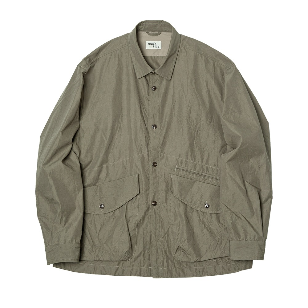 [Rough Side]  Crease Jacket Khaki