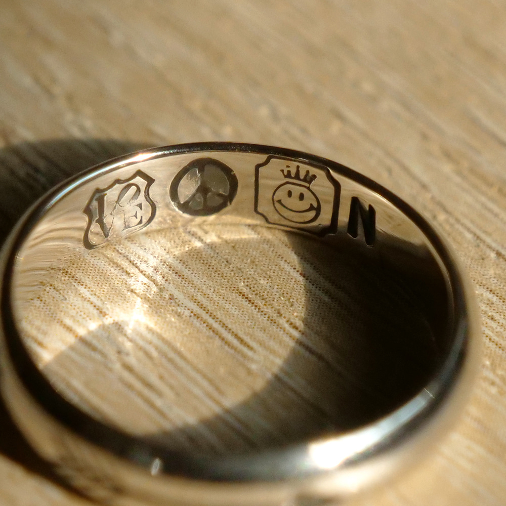 [North Works]  W-024 900Silver Stamp Ring