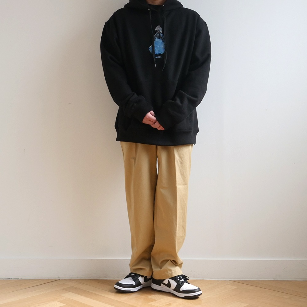 [Youngwall Junction]  Water Buddha Hoodie Black