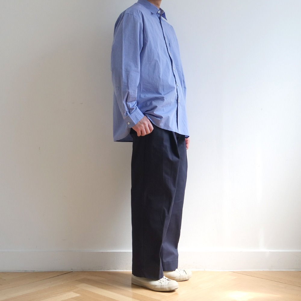 [Bearded Kid]  Cotton Silhouette Pants Navy