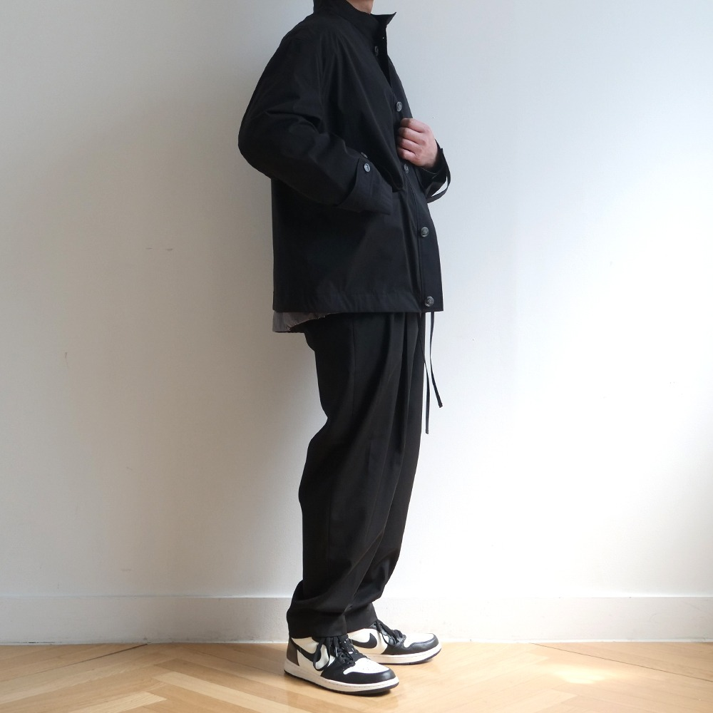 [Bearded Kid]  Banding Silhouette Pants Black